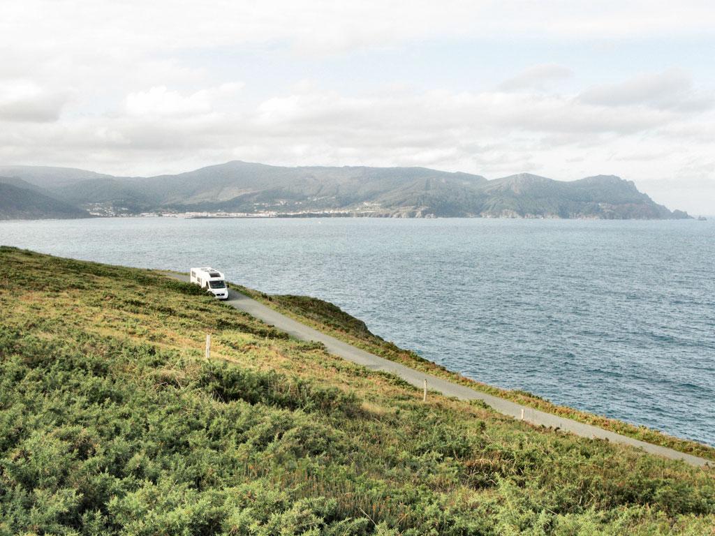 Cabo Ortegal carretera autocaravana