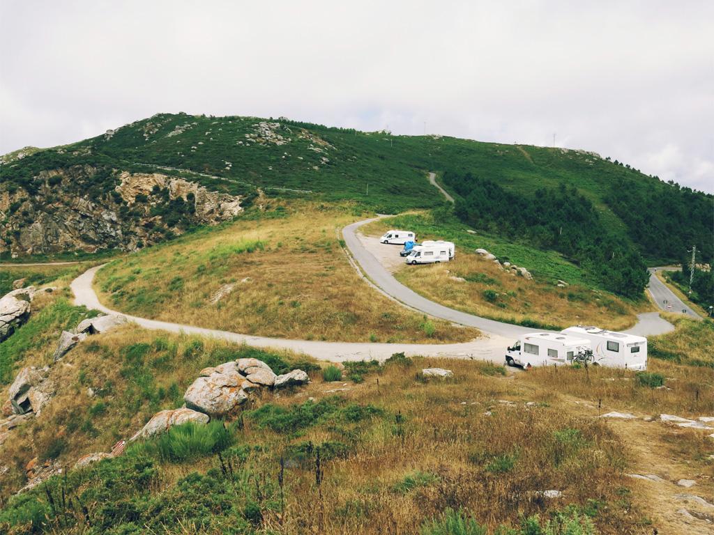 Autocaravanas en Fisterra