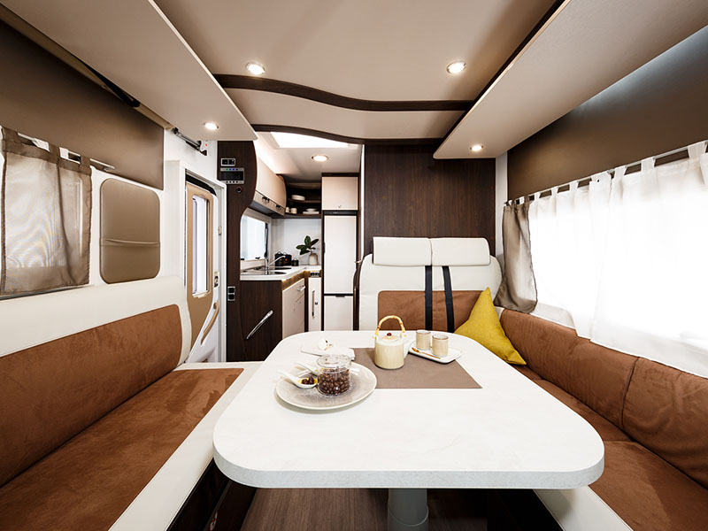Autocaravana Tessoro 481 Vista general interior